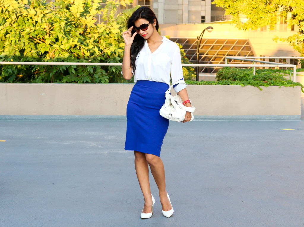 Pencil Skirt and Roll Up Sleeves!