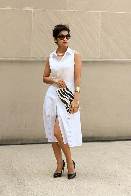 A Classy White Dress
