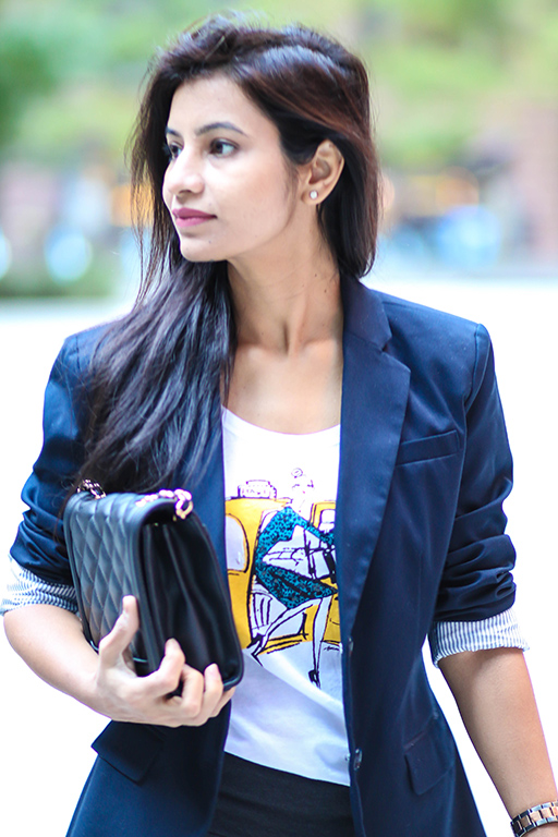 Graphic Tee and Blazer
