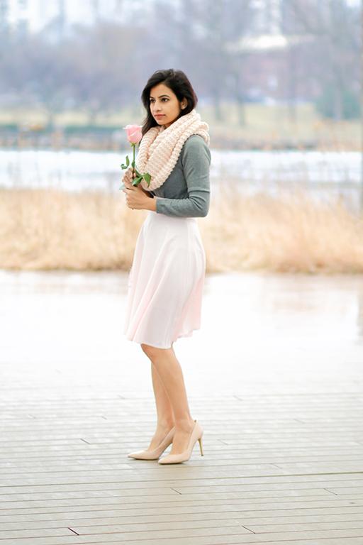Valentine Day look - Romantic soft pink
