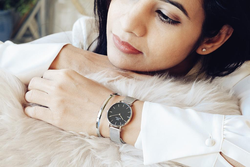 Daniel Wellington Cuff – Classic Cuff in silver, size large. Love pairing the watch with this beautiful minimalist cuff.